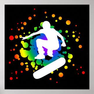 monopatín: burbujas: póster