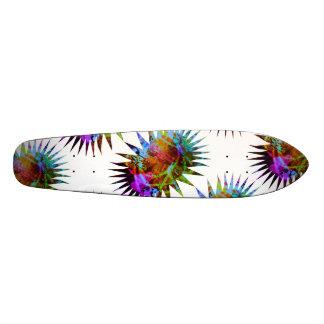 Monopatín colorido abstracto psicodélico