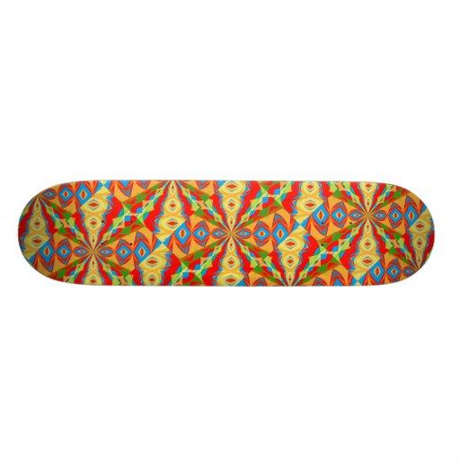 Monopatín con diseño abstracto brillante