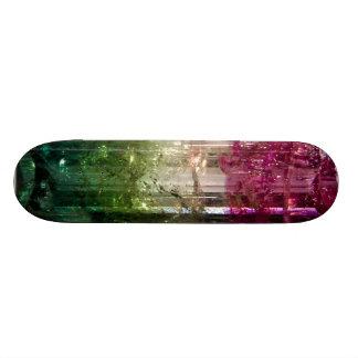 "Monopatín cristalino tricolor del arte abstracto patineta 7 1/4"""