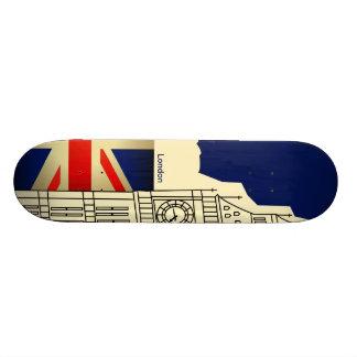 Monopatín de Big Ben de la bandera de Londres Unio