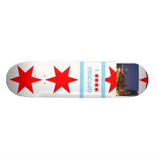 ¡Monopatín de Chicago - empuje del retroceso! Patineta Personalizada