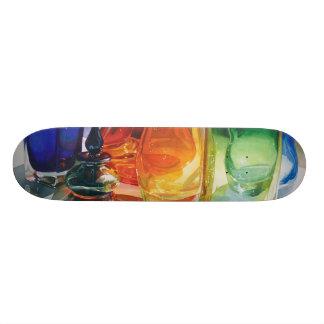"""Monopatín de cristal de la acuarela de las """"del ar patin personalizado"""
