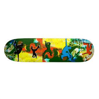 Monopatín de Hip Hop de la pintada de la danza de  Skateboard