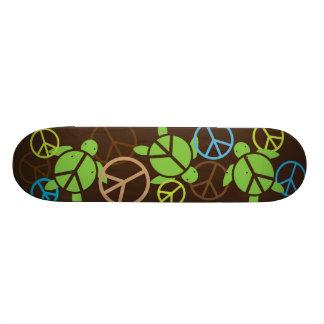 Monopatín de Honu de tres signos de la paz - Brown Monopatin Personalizado