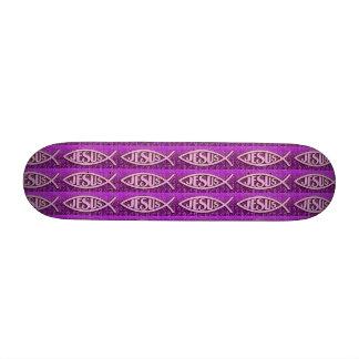 Monopatín de Jesús - púrpura