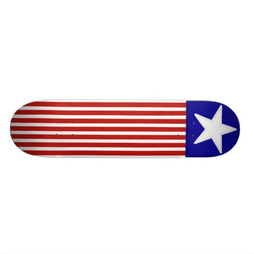 Monopatín de la bandera americana