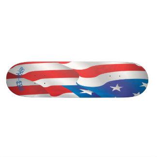 Monopatín de la bandera americana de Sk8-ers