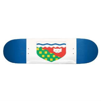 """Monopatín de la bandera de los territorios del nor patineta 7 1/8"""""""