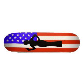 """Monopatín de la bandera de Sarah Palin los E.E.U.U Patineta 8 1/2"""""""