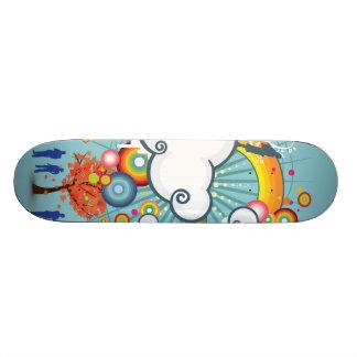 Monopatín de la gente de la nube del arco iris skate boards
