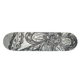 Monopatín de la margarita del espacio del carbono skate board