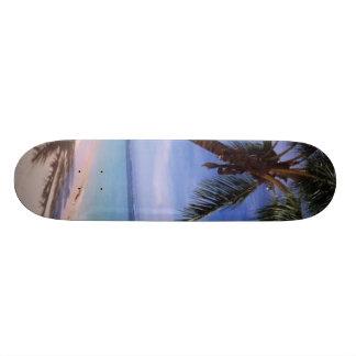 Monopatín de la palmera patineta personalizada