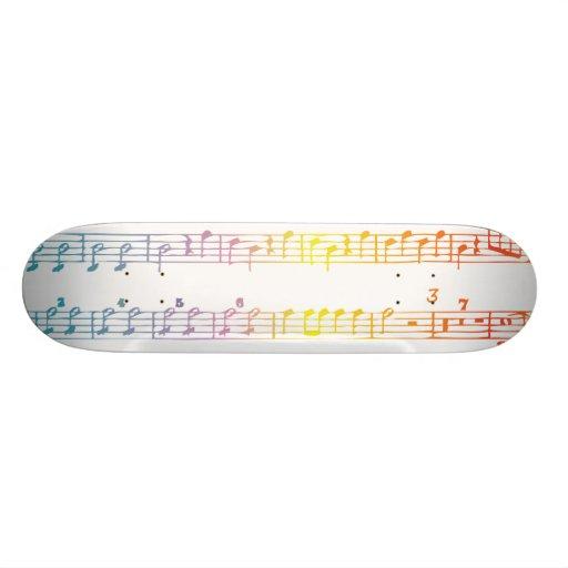 """Monopatín de la partitura del arco iris patineta 7 3/4"""""""
