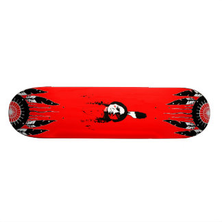 Monopatín de la pintura de guerra tabla de skate