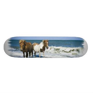Monopatín de la playa del caballo tabla de patinar