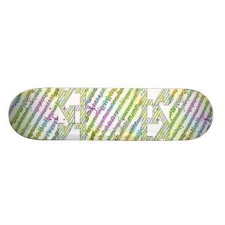 Monopatín de la recaudador de fondos de LALALA Skateboards
