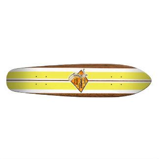 Monopatín de la resaca del vintage de la bahía de tablas de skate