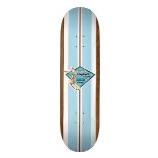 Monopatín de la resaca del vintage de la bahía de tabla de skate