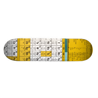 """Monopatín de la tabla periódica patineta 7 7/8"""""""