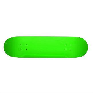 Monopatín de la verde lima tablas de skate