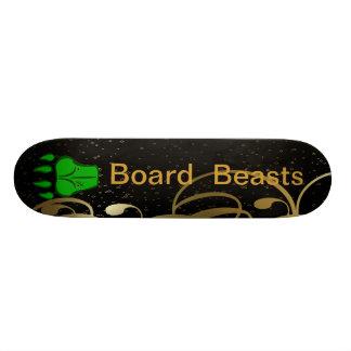Monopatín de las bestias del tablero patineta personalizada
