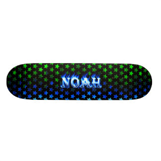 Monopatín de las llamas azules de Noah