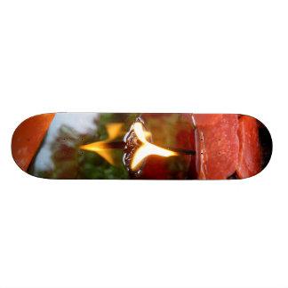 Monopatín de las reflexiones de Candlescape Tabla De Skate