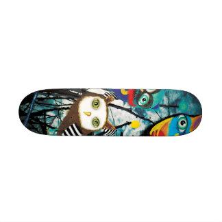Monopatín de los búhos tablas de skate