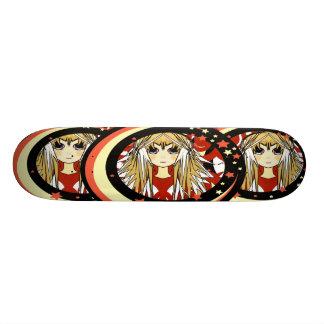 Monopatín de los chicas del animado tabla de skate
