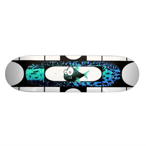 Monopatín de los pescados del dibujo animado skateboards