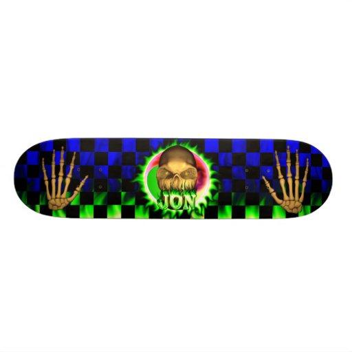 Monopatín de Skatersollie del fuego del verde del  Monopatines Personalizados