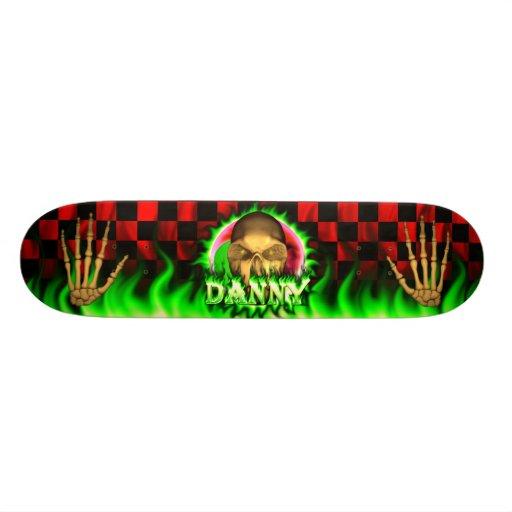 Monopatín de Skatersollie del fuego del verde del  Skateboards