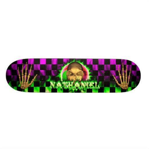 Monopatín de Skatersollie del fuego del verde del  Tablas De Skate
