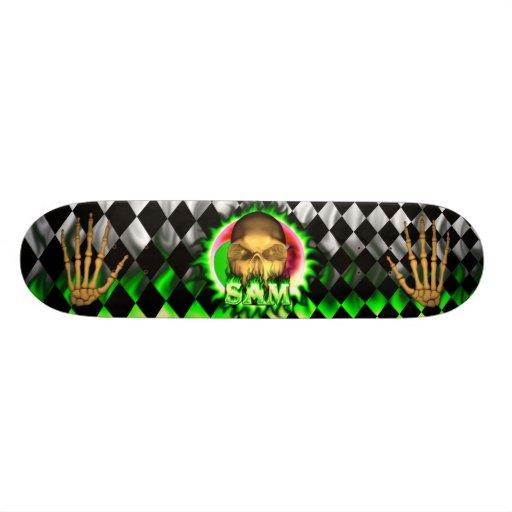 Monopatín de Skatersollie del fuego del verde del  Skateboard