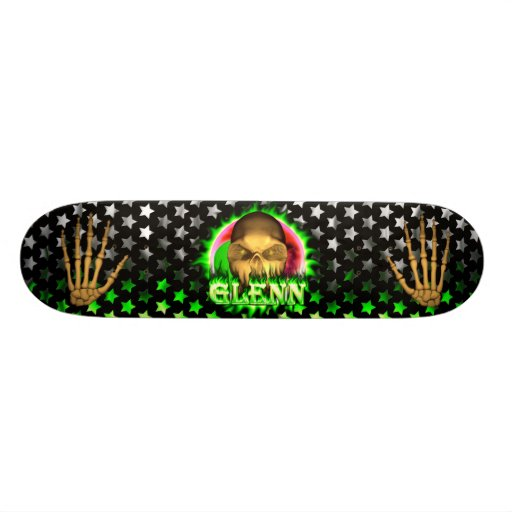 Monopatín de Skatersollie del fuego del verde del  Patines Personalizados