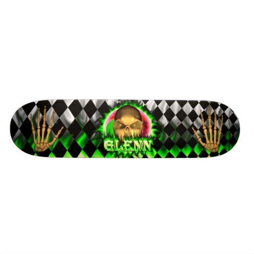 Monopatín de Skatersollie del fuego del verde del  Skate Board