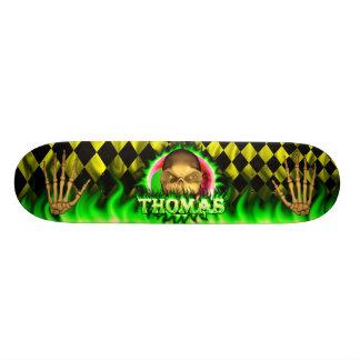 Monopatín de Skatersollie del fuego del verde del  Skate Boards