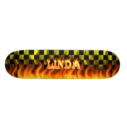 Monopatín de Skatersollie del fuego real de Linda