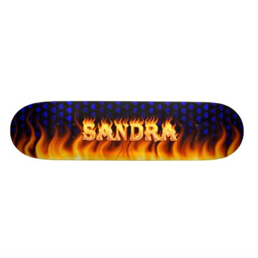 Monopatín de Skatersollie del fuego real de Sandra