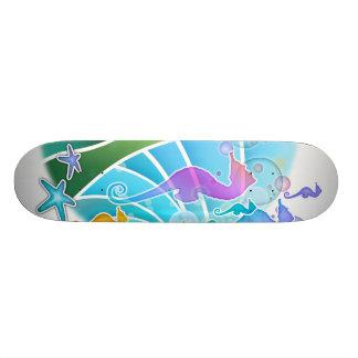 Monopatín - debajo del Seahorse del arte pop del m Skateboard