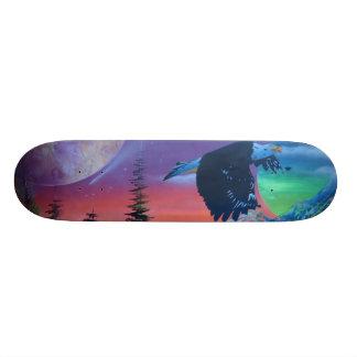 Monopatín del águila del vuelo patines