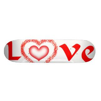 Monopatín del amor tablas de patinar