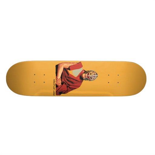 Monopatín del arte de la calle del lama del luchad skateboard