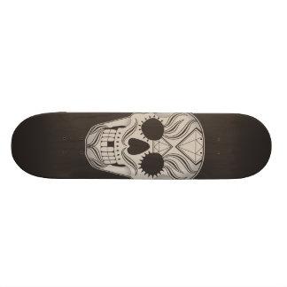 Monopatín del arte del cráneo del azúcar skateboards