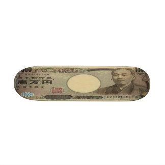 "Monopatín del billete de banco de 10.000 yenes jap patineta 8 1/2"""