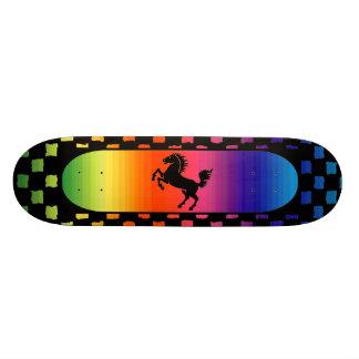 Monopatín del caballo del arco iris monopatin personalizado