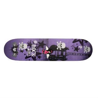Monopatín del chica de la roca patinetas personalizadas