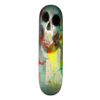 Monopatín del cráneo con diseño abstracto patin personalizado