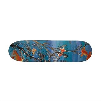 Monopatín del cuenco de los pescados del oro tablas de skate